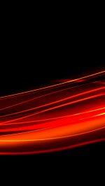 Abstract Orange Black