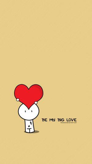 Be My Big Love Valentines Illustration