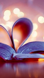 Book Love Heart Bokeh