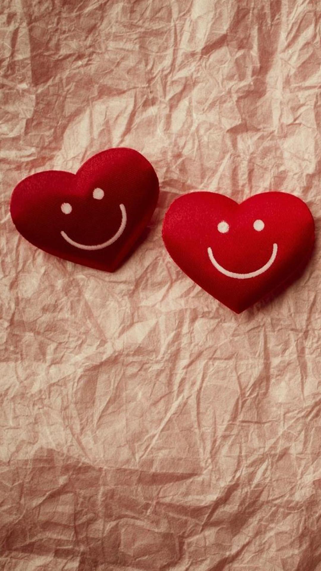Cute Smile Love Heart Couple Fold Paper