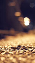 Dusky street Rings bokeh Night Love