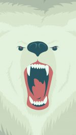 Fierce Polar Bear Winter Cartoon Illust
