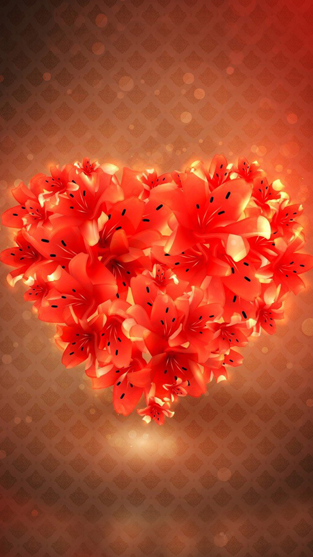 Flower Love Heart Wallpapers For Iphone