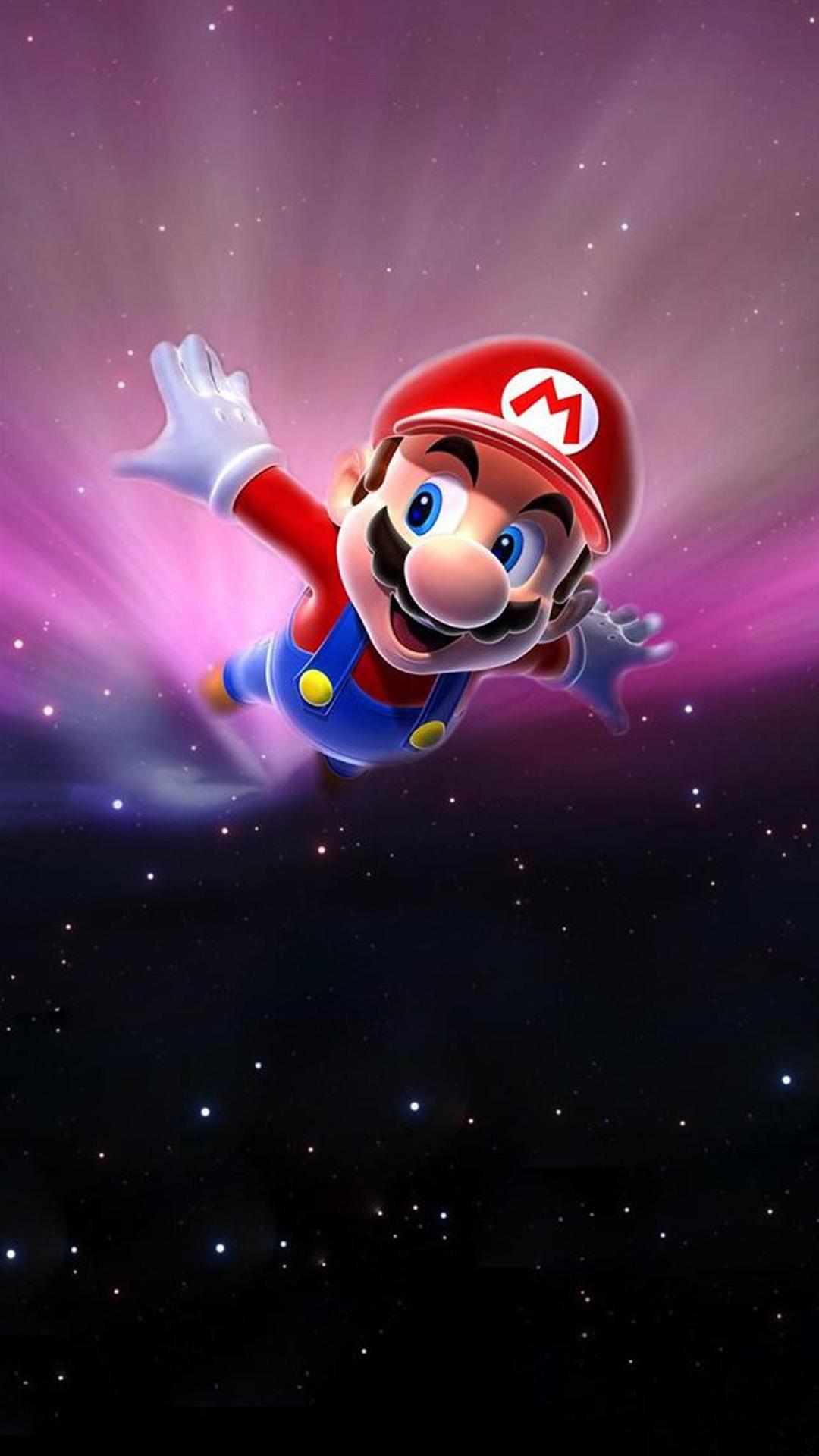 Mario flying in space Mac