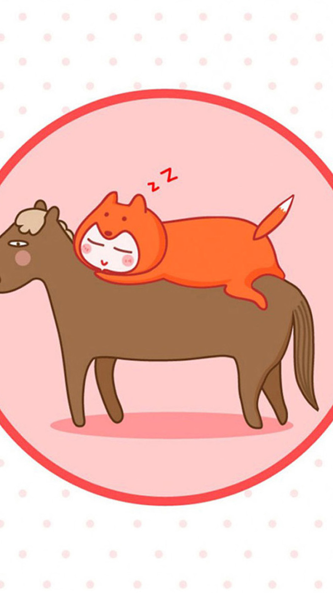 Funny Cat and Horse Sleeping