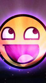 Funny Emoticon Space Purple