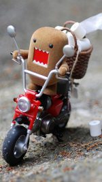 Domo Kun on Scooter