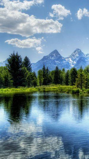Lake Mountains Sky