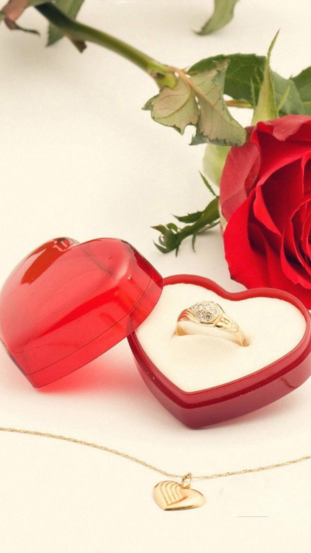 Love Ring Heart iPhone wallpaper