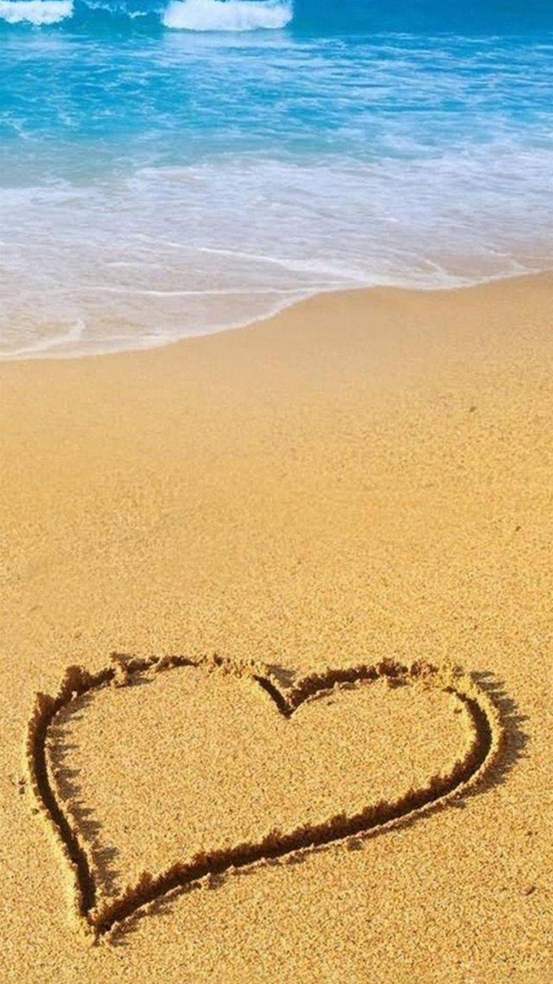 Love Sandy Beach Wave