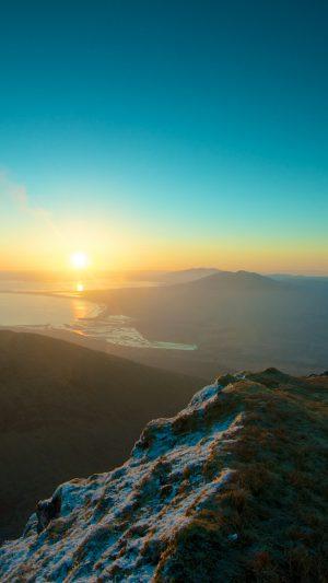 Mountains Sky Sunset Peaks