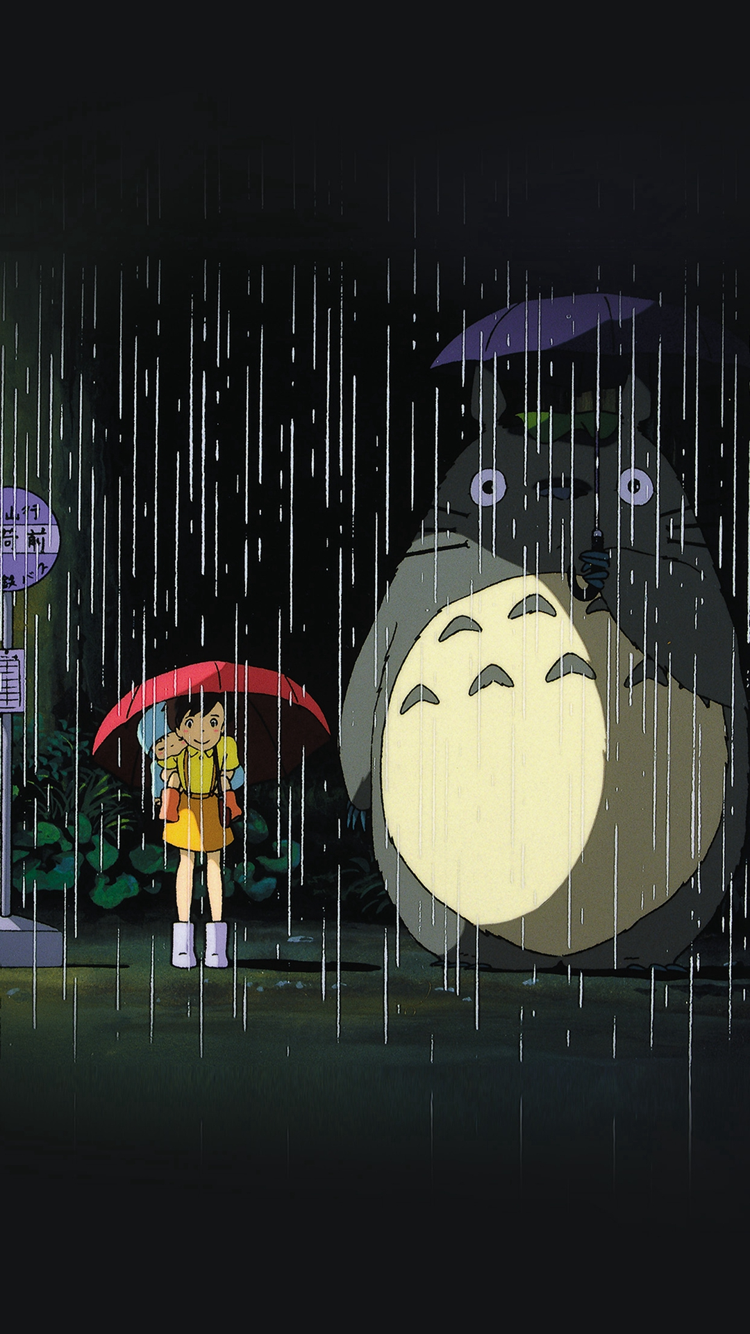 My Neighbor Totoro Art Illust Rain Anime Wallpapers For Iphone