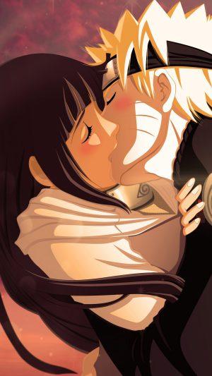 Naruto Uzumaki Naruto Hyuuga Hinata Girl Boy Kiss