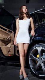 Porsche Cayenne And Girl