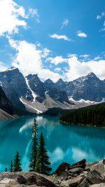 Sky Mountains And Lake