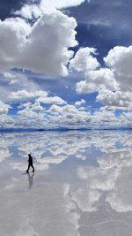 Walking in water on beach