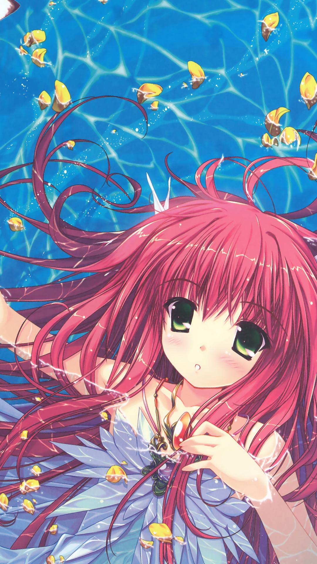Water Anime Swimming Girl Art