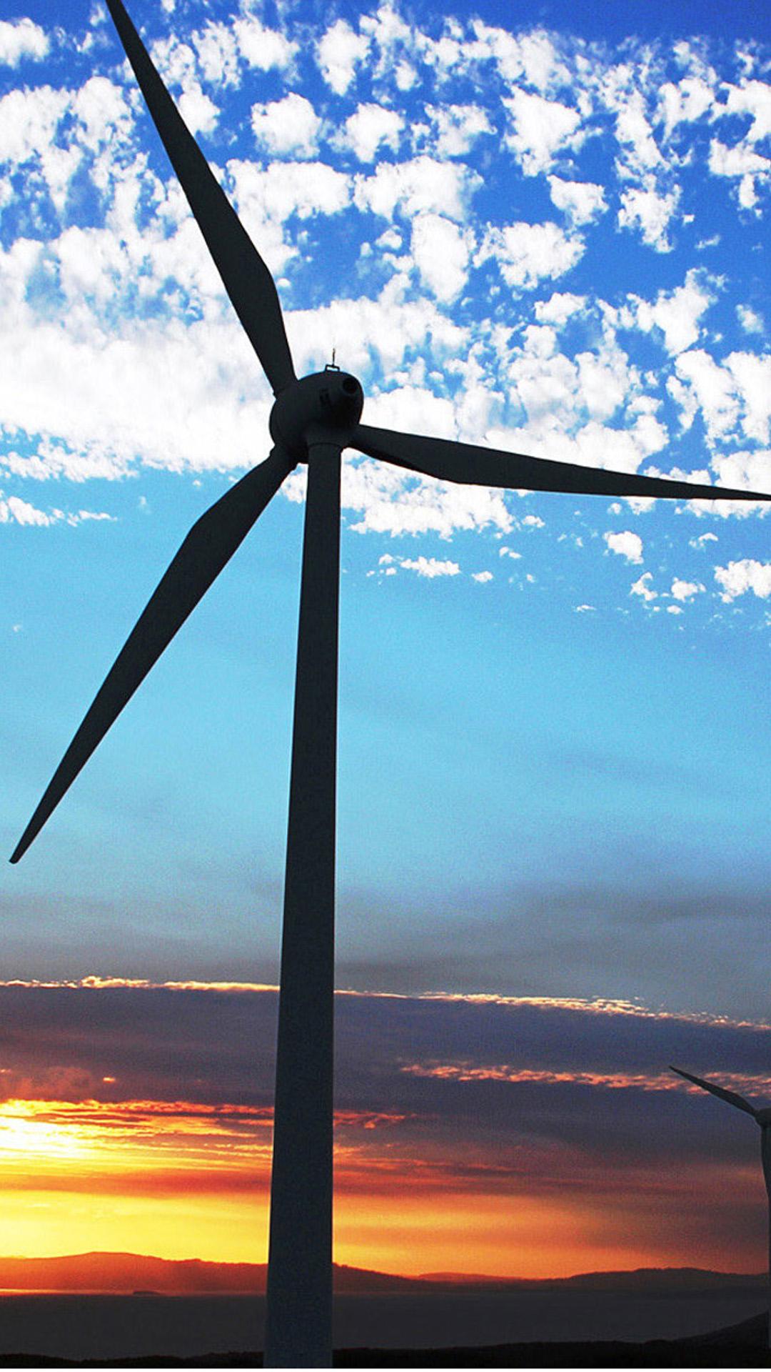 Wind Turbine Sky