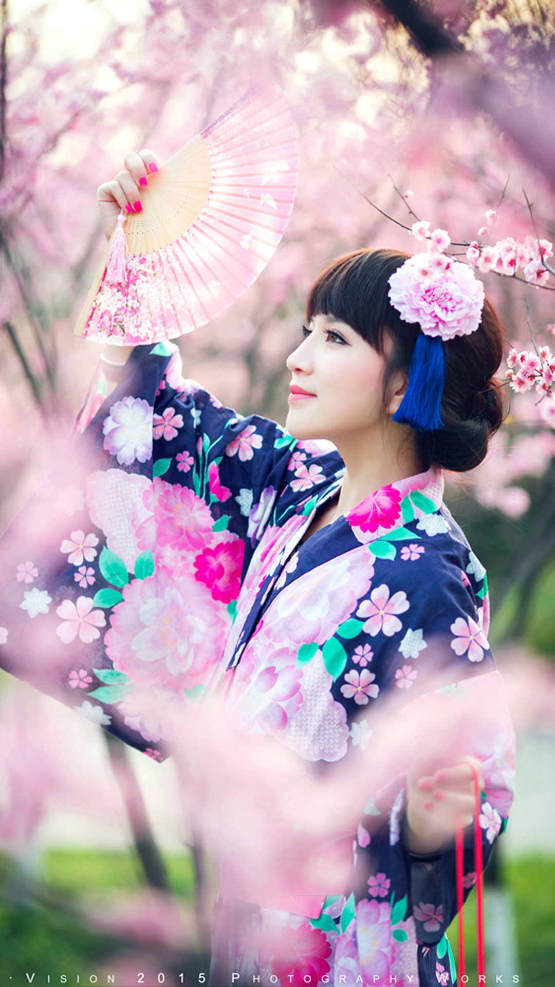 Cherry Blossoms Girl