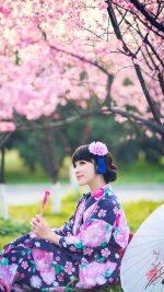 Japanese Girl Kimono