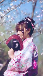 Shy Japanese girl Sakura