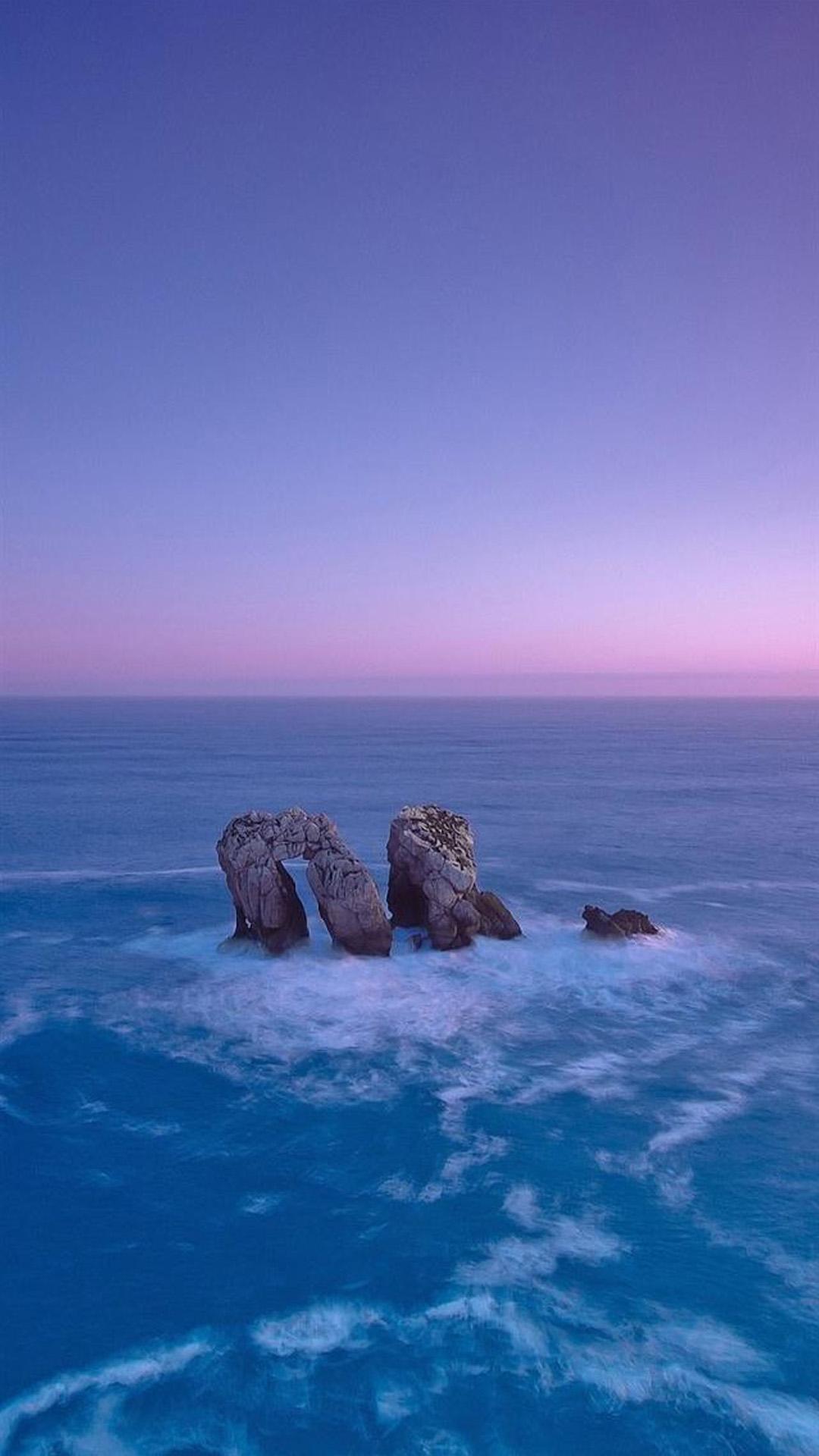 Stones in water beach
