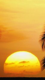 Sunset at Old Airport Beach Park. Kailua-Kona. Hawaii. USA.