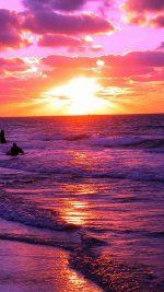 Beach Purple Sea