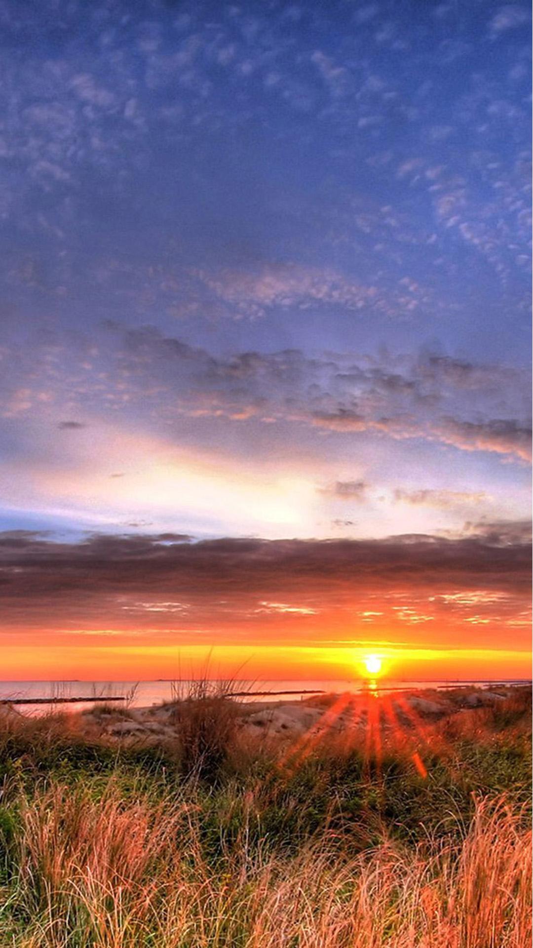magnificent sunset on a beach house hd desktop background