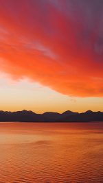 22 Feb 2006, Kyle of Lochalsh, Highland, Scotland --- Sunset over the Cuillin Mountains on the Isle of Skye from Kyle of Lochalsh. --- Image by © Peter Lewis/LOOP IMAGES/Loop Images/Corbis