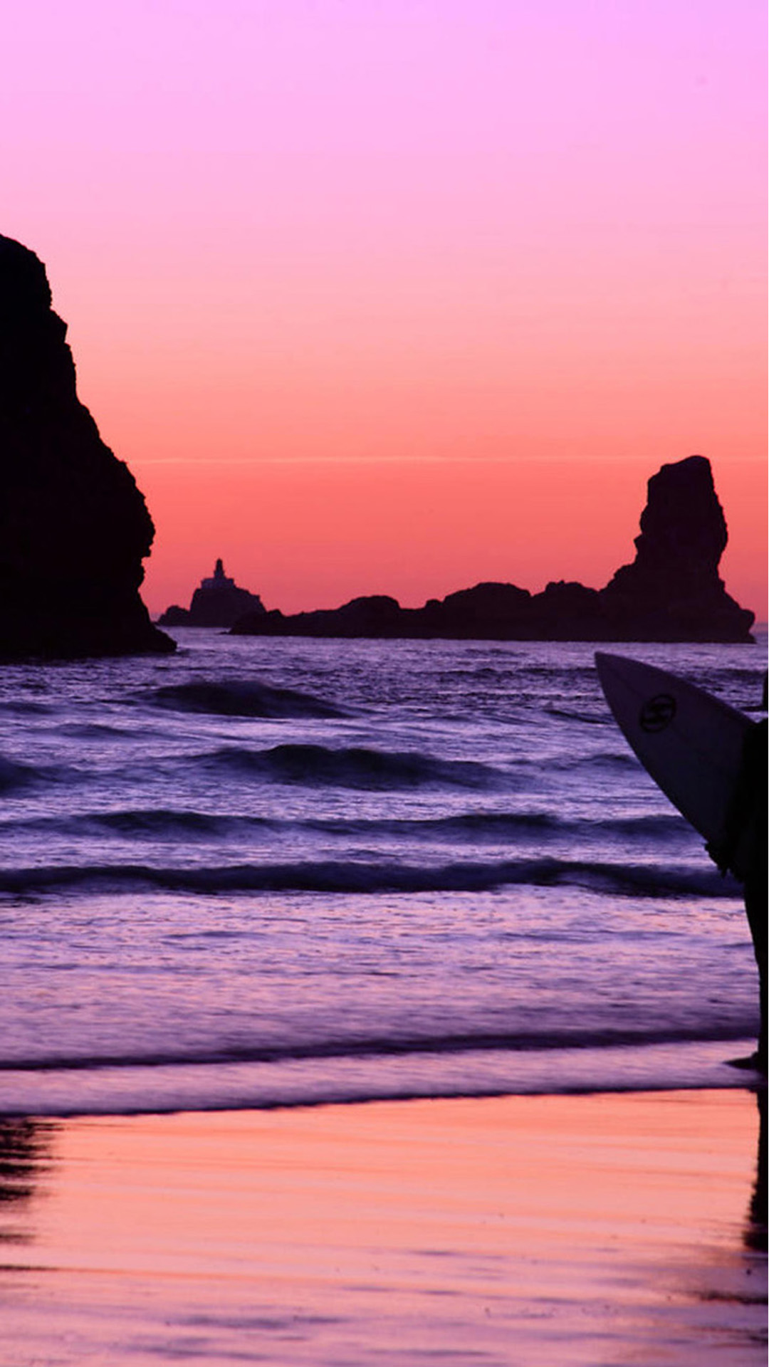 Surfer at Sunset, Cannon Beach, Oregon