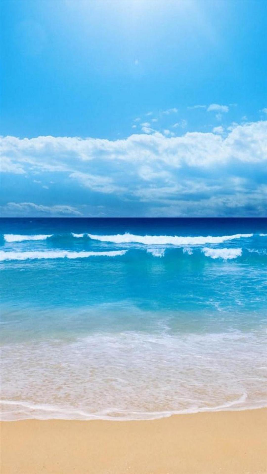 White Beaches And Blue Sky