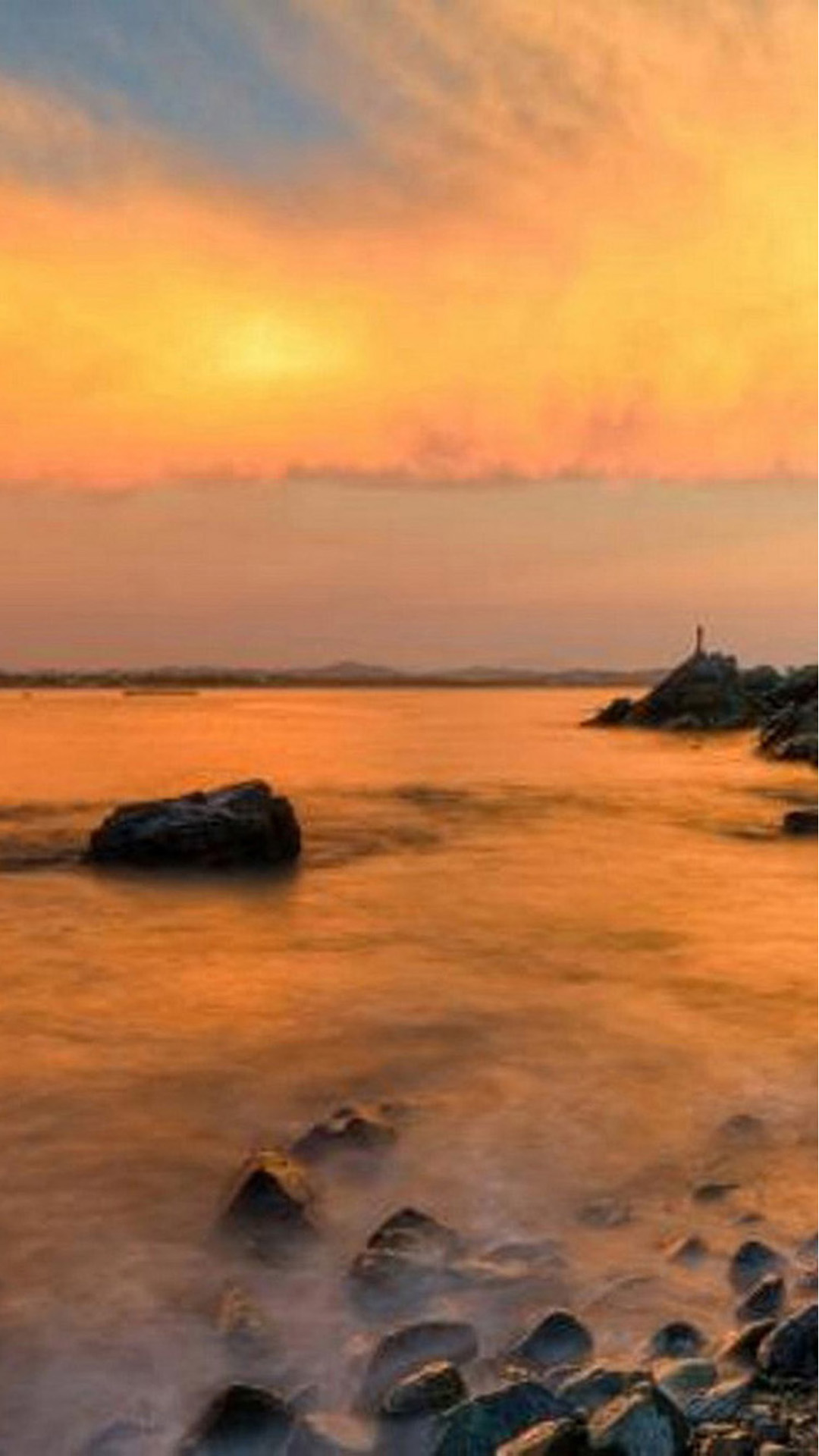 Beach Sun and Stones