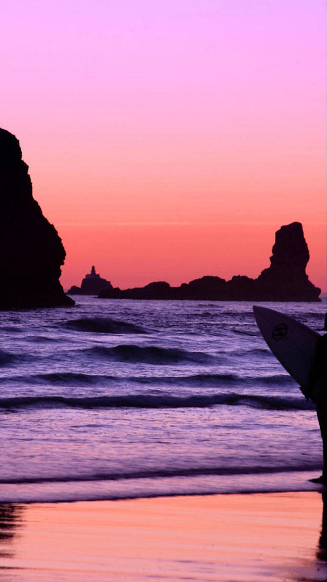 Beach Purple Orange