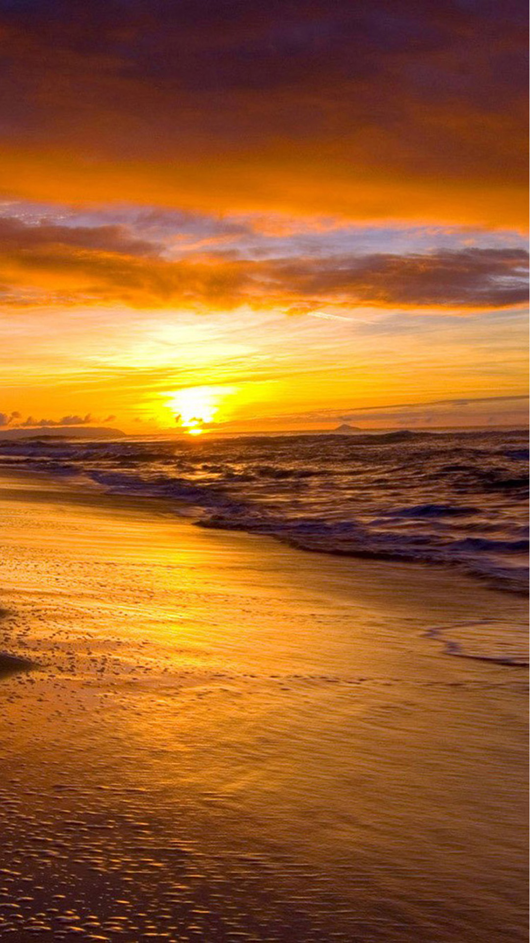 Great Sunset On The Beach Wallpapers For Iphone