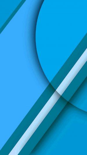 Beautiful blue geometric