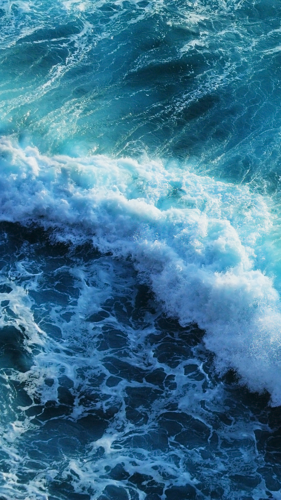 Beautiful blue waves