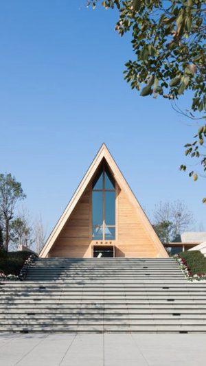 China Hangzhou beautiful Island church 2