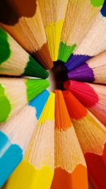 Colorful pencils-closeup