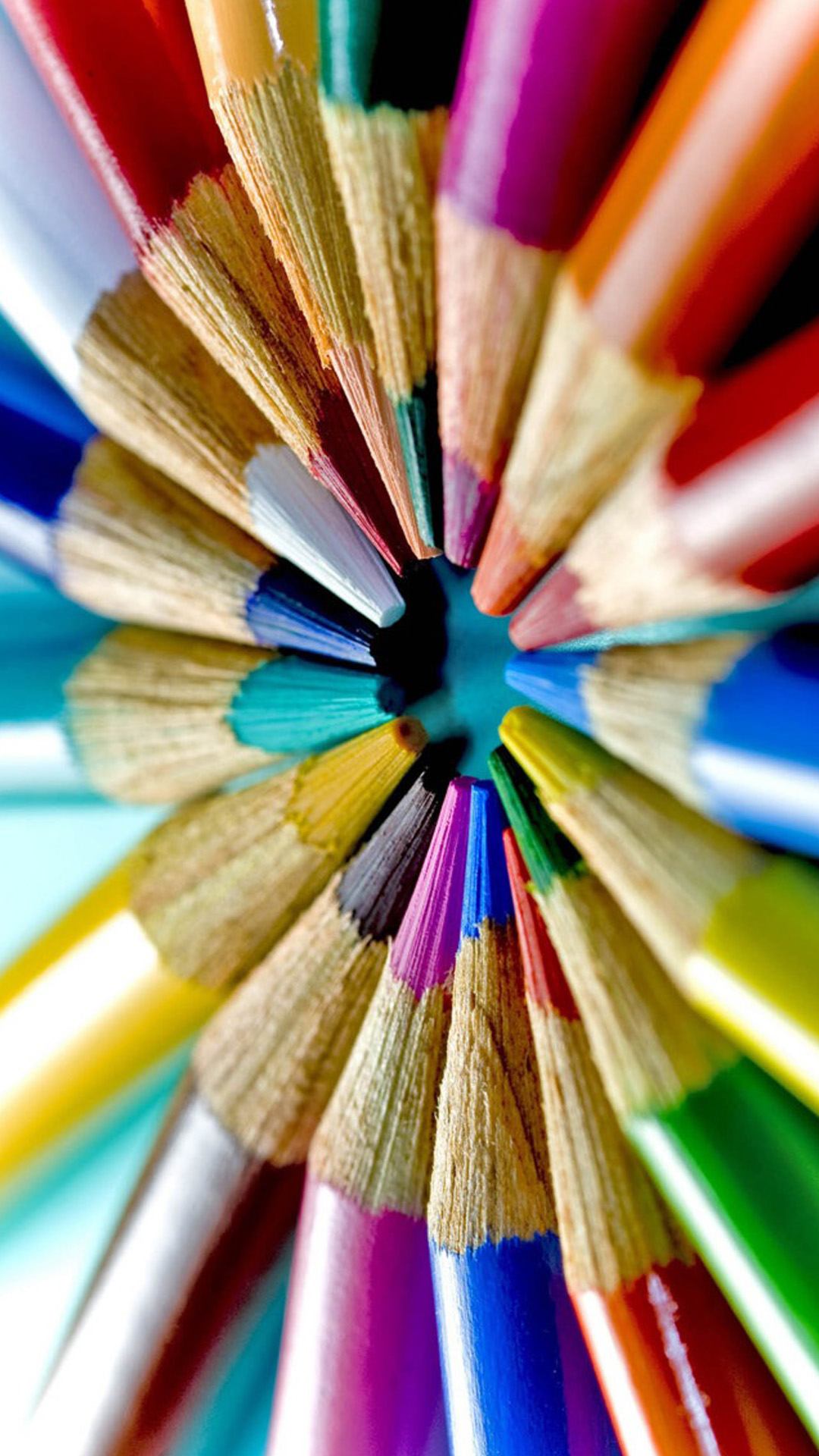 Colorful pencils-macro