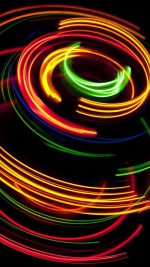 Colorful spinning