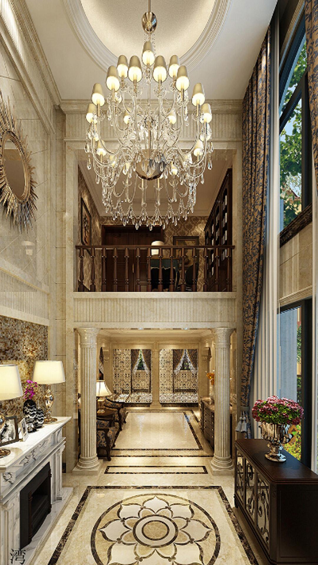 European villa aisle decoration