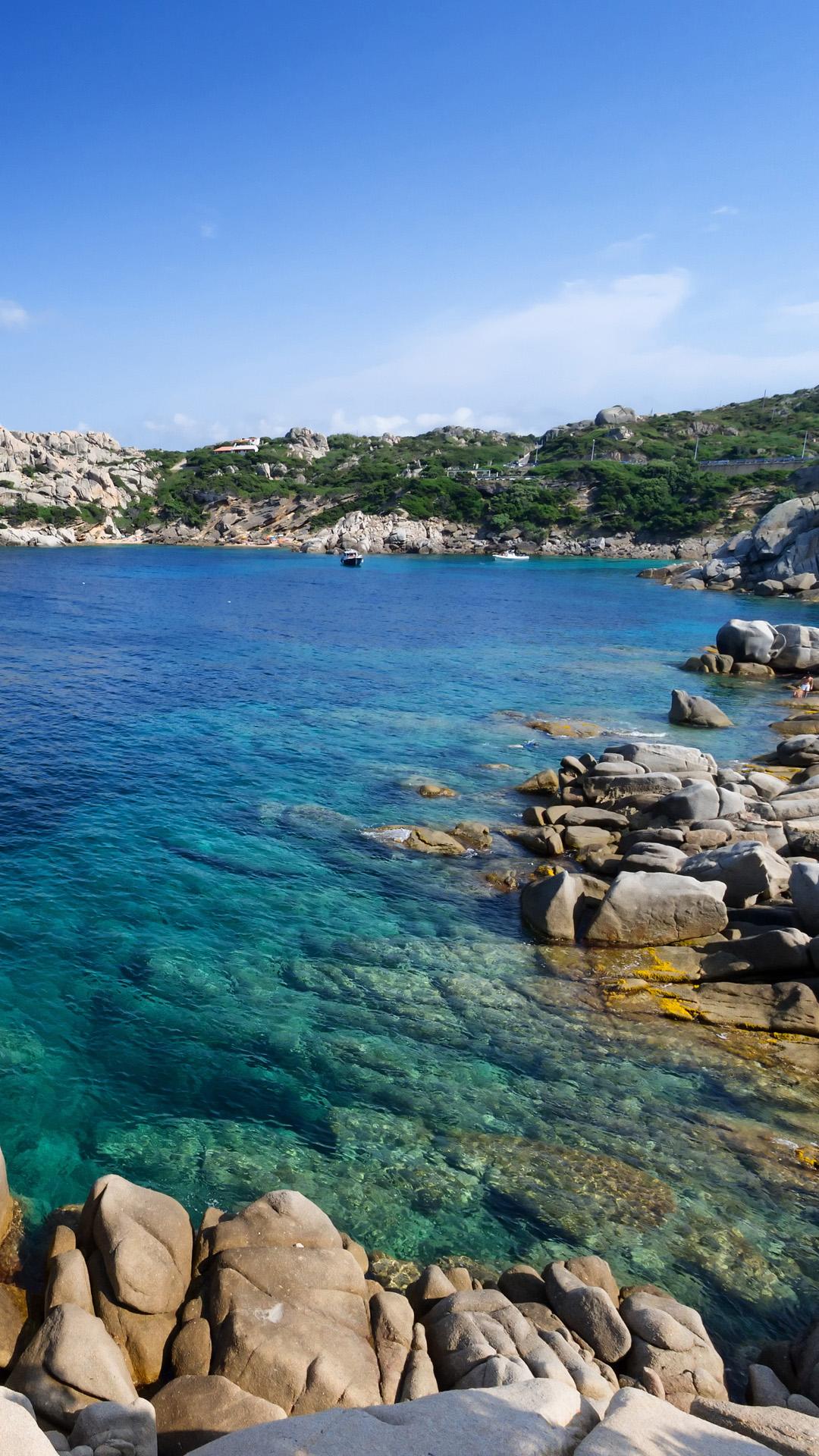 Scenic rocky coast