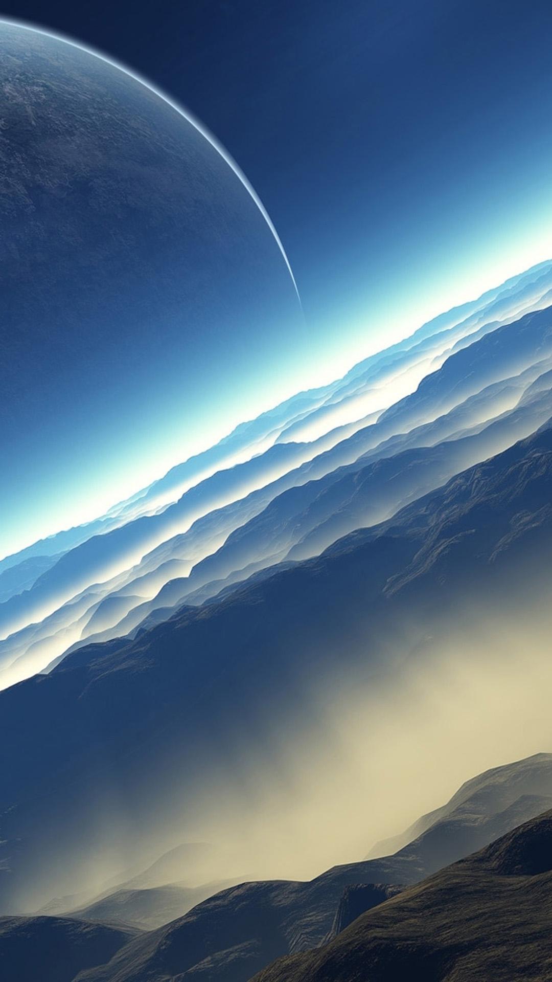Blue Space Landscape