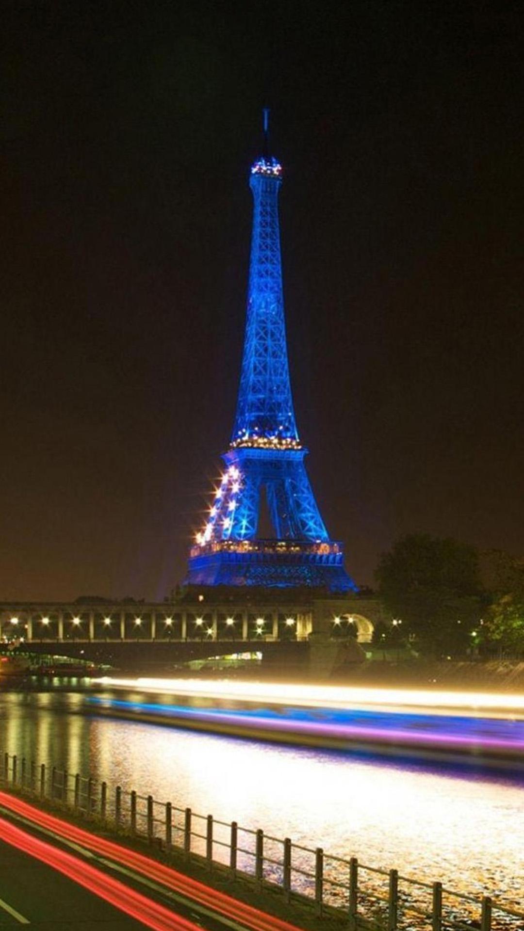 Eiffel Tower In Paris Blue