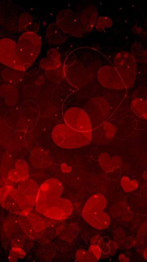 Red Hearts Art Valentine