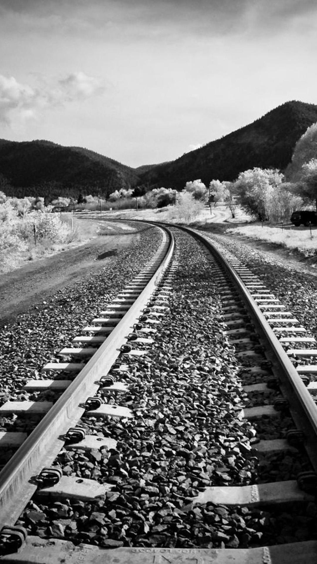 Train Rains Black And White