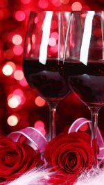 Valentine Wine And Roses