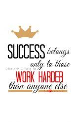 Work Harder Quote