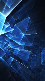 Abstract Blue Cube Pattern
